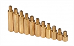 M2 Copper Cylinder Pillar Spacers Single Hole Screw