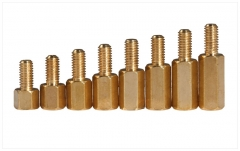 M3-M4 Copper Hexagon Pillar Spacers Double Hole Screw