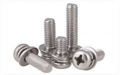M3-M6 316 Stainless Steel Cross Pan/Round Head Screw Assembly